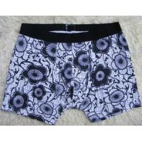 Quality OEM Boxers Eco - Friendly Blue Spandex / Cotton Personalised Underwear for Men for sale