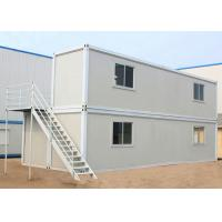 Quality Two Layers Prefabricated Container House , 40ft Container Home With Insulation Wall Panel for sale