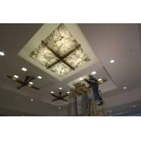 Quality translucent onyx ceiling with glass caldding stone panel for sale