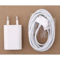 China EU Plug AC Charger USB Data Charging Cable Mobile Phone Accessory for iPod / iPhone 4 / 4s on sale
