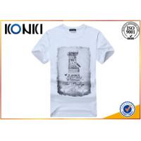 China Polyester / Cotton Plain White Round Neck T Shirts Printing For Man on sale