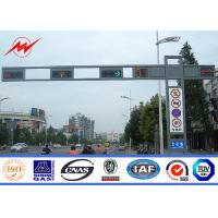 China Q235 Frame polygonal / Round Highway Road Sign Board With Single Arm on sale