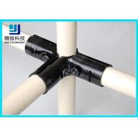 China 3 way Flexible Metal Pipe Joints Black Electrophoresis For Pipe Rack System on sale
