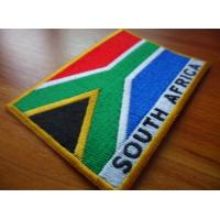 China 100% twill South Africa national embroidered flag patches,50-80mm, stick-on and six thread colors  on sale