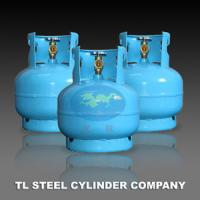 Quality Household 7.2L liquefied Gas cylinders / Bottles With Angle Valve for sale
