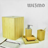 Quality Two Tone Bamboo Bathroom Sets and Accessories for sale