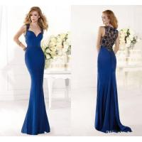 Quality Sexy Mermaid Womens Evening Dresses Custom made with Lace Applique for sale