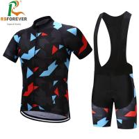 Quality Custom design sublimation printing sportswear bib shorts cycling jersey men for sale