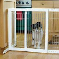 Quality Standalone Pet Gate with Side Panel Design for sale