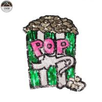 Fashion Color Bling Sequin Patch 'Fire Chip' Sequin Patch Adorable 'Popcorn' Embroidery Patch