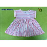 Quality Pretty Toddler Girl Long Dresses , Simple Summer Dresses With Fold Cuff Finished for sale