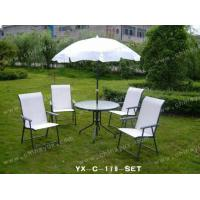 China Steel Furniture with Umbrella on sale