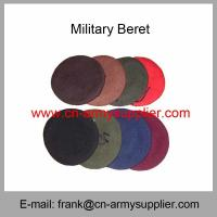 China Wholesale Cheap China Army Wool Nylon Military Beret With Cotton Lining on sale