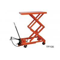 Quality Mobile Pneumatic Lift Cart , Double Scissor Lift Table Free Maintenance Design for sale