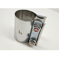 """Quality Preformed Butt Joint Stainless Steel Exhaust Band Clamp 2.0"""" 2.25"""" 2.5"""" 3.0"""" 4.0"""" 5"""" for sale"""