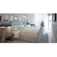 Buy cheap Light Blue / Grey Full Size Modern Upholstered Beds Double With Wood Frame product