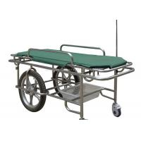 Quality Height Fixed Ambulance Stretcher Trolley 180kg Load Capacity Two Large Wheels for sale