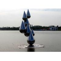 Quality Outdoor Abstract Stainless Steel Garden Sculptures , Decoration Metal Garden Ornaments for sale