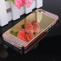 Quality Mirror With Metal Diamond Case cover For iPhone 5/5S for sale