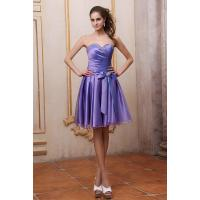 Quality New Fashion Strapless Sweetheart Satin And Organza Ruffle Purple Evening Prom Dresses With Beaded Sash Online Sale Shop for sale