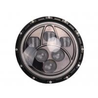 Quality 50W Jeep LED Headlights Black 7 Inch Round Off Road LED Headlights for sale