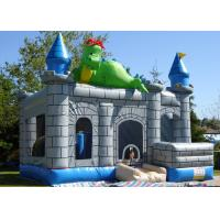 Buy cheap Dinosaur Design Bouncy Jumping Castles 0.55mm Thickness PVC Long Lifetime from wholesalers