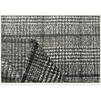 Quality One side Tartan , Black And White Hounds tooth / Swallow Grid Plaid Fabric for sale