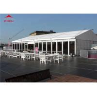 Quality 10 x 24m White Reinforced Pvc Fabric High Peak Tent For 200 People / Roof Top Polygonal Tent for sale