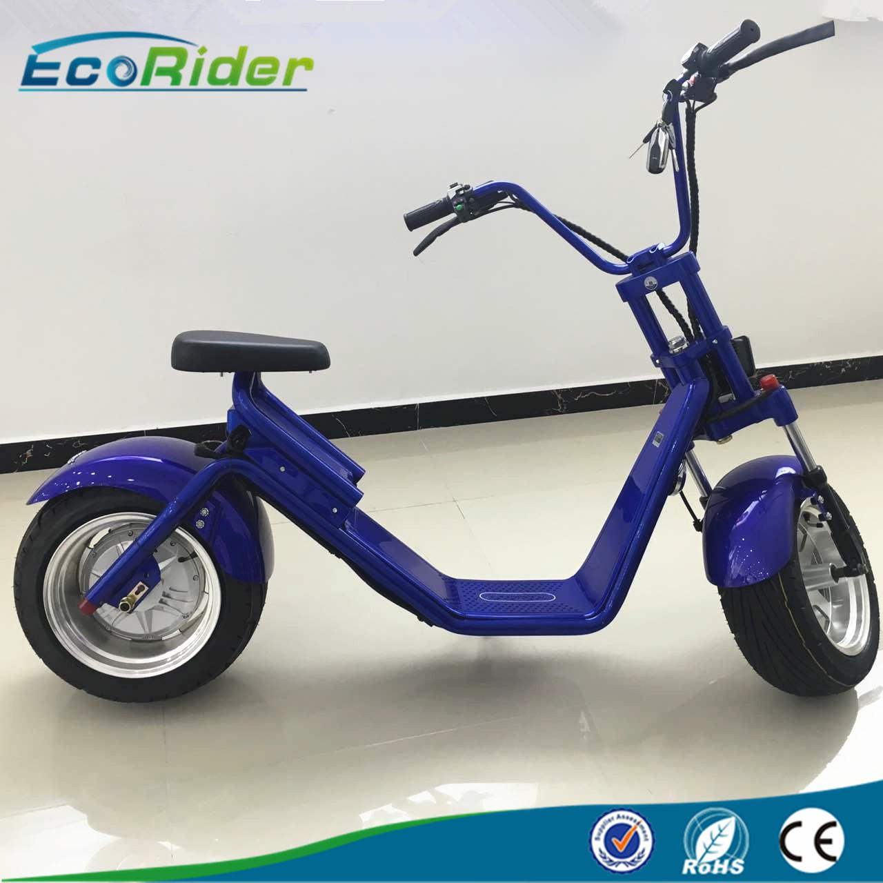 Buy cheap EcoRider 2 wheel electric scooter with LED light,double seat electric bike with disc brake product