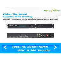 Quality 8 Channel HD H.264 / MPEG4 Audio Video Encoder With 8CH HDMI Input / IP Output for sale