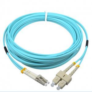 Buy cheap Corning cable SC/PC-LC/PC OM3 50/125 2.0mm aqua fiber optic hybrid jumper product