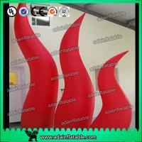 Quality Holiday Party Entrance Decoration Inflatable Tentacle Cone RED Inflatable Flame for sale