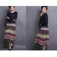 Quality Colorful Comfortable Ladies WoolSkirt Retro Casual With Breathable for sale