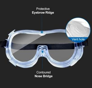 Quality Chemical Resistant Medical Anti Saliva Eye Safety Goggles for sale