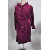 Quality Personalized heart cut pattern coral fleece hooded robe / dressing gown S / M / L / XL for sale