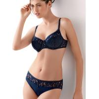 Buy cheap Black Customized Health Embroidered Matching Bra And Underwear Sets For Office lady Etc product