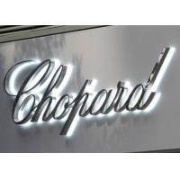 """Quality Polished Stainless Steel LED Backlit Sign Letters Signage With Height 24"""" for sale"""