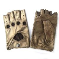 Quality Custom Half Finger Leather Driving Gloves Comfortable Various Size for sale