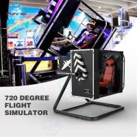 Buy cheap Intelligent Induction Seat Belt 720 degree VR Flight Simulator In Malls 3.5KW from wholesalers