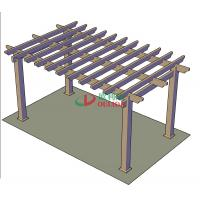 DIY Recyclable 100% Pergola Canopy Kit , Free Standing Pergola With Canopy Color Stability