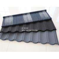 China Colorful Stone Chip Coated Metal Roof Tiles / Galvalume Steel Roof Tile Sheets on sale