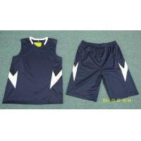 China Black with White Mens Athletic Clothes for Basketball , Volleyball on sale