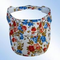 Quality 100 percent Cotton Poplin Visor with Printed Design for sale