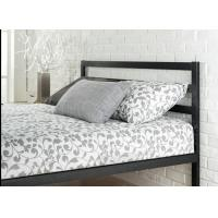 Quality King Size Metal Frame Bed With Headboard Heavy Duty Bedroom Furniture for sale