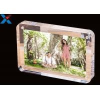 Quality Clear Magnet Acrylic Photo Frame PMMA Certificate Pictures Table Frame for sale