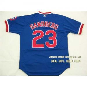 New NFL Dallas Chicago Cubs #23 Ryne Sandberg Blue Jersey