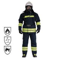 China Black / Fluorescent Flame Retardant Coveralls , Water Resistance Fireman Sam Suit on sale