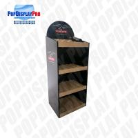 China 3 Shelving Promotional Wood Permanent Display 5 Years Serving Time At Stores on sale