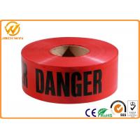 Quality PE Red Danger Safety Warning Adhesive Barrier Tape for Construction Site / Traffic accident area for sale