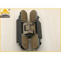 Buy cheap Silver Black Champagne Invisible Door Hinges Load 80 Kg Length 160mm Hinge product